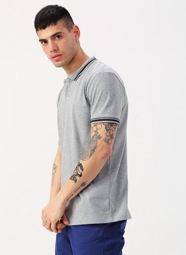 Koton Koton Polo Yaka Gri T-Shirt Gri